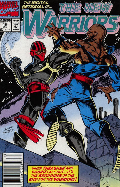 Cover for The New Warriors (Marvel, 1990 series) #18 [Newsstand]