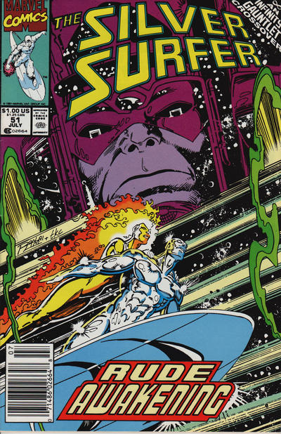 Cover for Silver Surfer (Marvel, 1987 series) #51 [Direct]