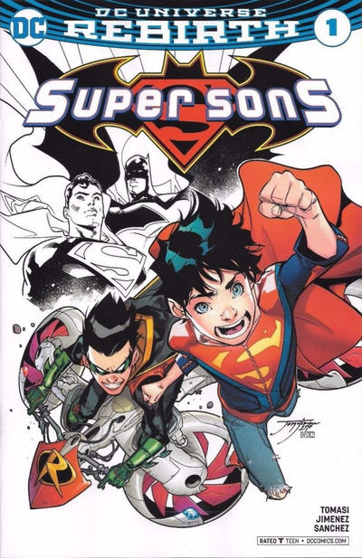 Cover for Super Sons (DC, 2017 series) #1 [Francesco Mattina Color Cover]