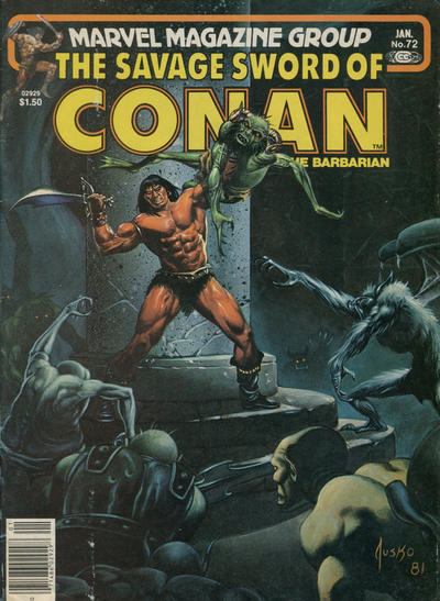 Cover for The Savage Sword of Conan (Marvel, 1974 series) #72 [Newsstand]