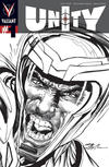 Cover for Unity (Valiant Entertainment, 2013 series) #1 [Cover L - Neal Adams Black and White]