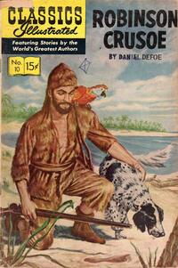 Cover Thumbnail for Classics Illustrated (Gilberton, 1947 series) #10 [HRN 164] - Robinson Crusoe
