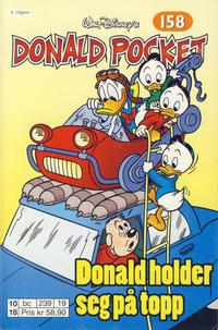 Cover Thumbnail for Donald Pocket (Hjemmet / Egmont, 1968 series) #158 - Donald holder seg på topp [3. utgave bc 239 19]