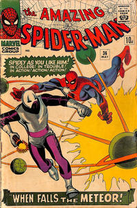 Cover Thumbnail for The Amazing Spider-Man (Marvel, 1963 series) #36 [British Price Variant]