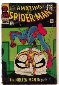 Cover Thumbnail for The Amazing Spider-Man (Marvel, 1963 series) #35 [British Price Variant]
