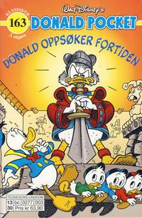 Cover Thumbnail for Donald Pocket (Hjemmet / Egmont, 1968 series) #163 - Donald oppsøker fortiden [3. utgave bc 0277 003]