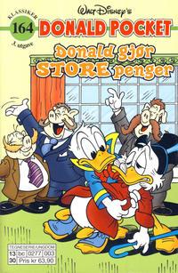 Cover Thumbnail for Donald Pocket (Hjemmet / Egmont, 1968 series) #164 - Donald gjør store penger [3. utgave bc 0277 003]