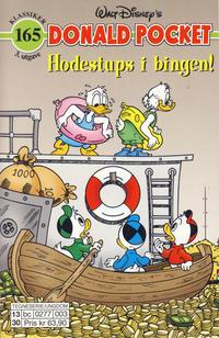 Cover Thumbnail for Donald Pocket (Hjemmet / Egmont, 1968 series) #165 - Hodestups i bingen [3. utgave bc 0277 003]