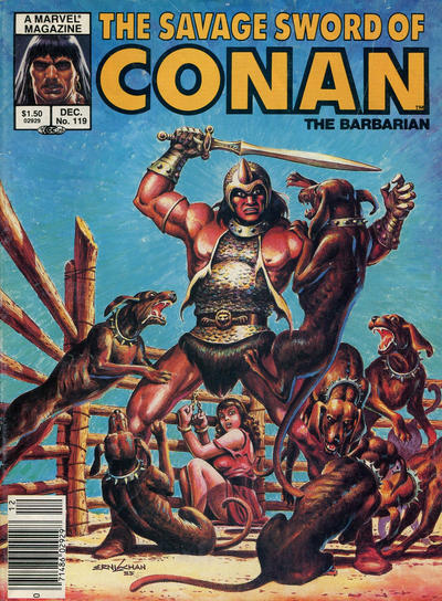 Cover for The Savage Sword of Conan (Marvel, 1974 series) #119 [Newsstand]