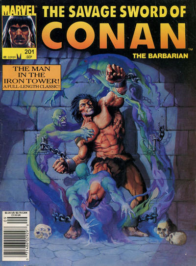 Cover for The Savage Sword of Conan (Marvel, 1974 series) #201 [Direct]