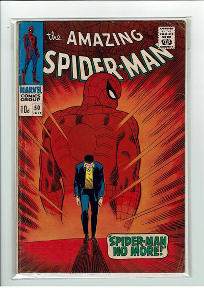 Cover for The Amazing Spider-Man (Marvel, 1963 series) #50 [Regular Edition]
