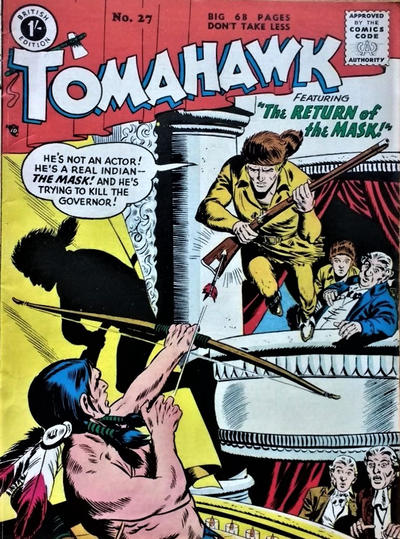Cover for Tomahawk (Thorpe & Porter, 1954 series) #27