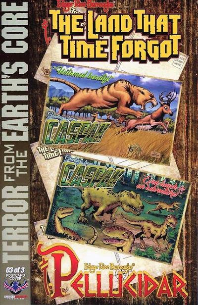 Cover for Edgar Rice Burroughs' The Land That Time Forgot/Pellucidar: Terror from the Earth's Core (American Mythology Productions, 2017 series) #3 [Postcard Cover]