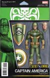 Cover for Secret Empire (Marvel, 2017 series) #1 [John Tyler Christopher Action Figure Variant (Hydra Captain America)]