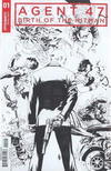 Cover for Agent 47: Birth of the Hitman (Dynamite Entertainment, 2017 series) #1 [Cover D Black and White Jonathan Lau]