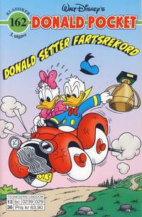 Cover Thumbnail for Donald Pocket (Hjemmet / Egmont, 1968 series) #162 - Donald setter fartsrekord [3. utgave bc 0239 029]