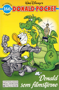 Cover Thumbnail for Donald Pocket (Hjemmet / Egmont, 1968 series) #166 - Donald som filmstjerne [3. utgave bc 0239 029]