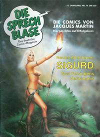 Cover Thumbnail for Die Sprechblase (Norbert Hethke Verlag, 1978 series) #74