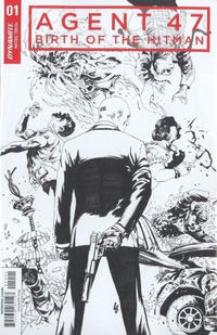 Cover Thumbnail for Agent 47: Birth of the Hitman (Dynamite Entertainment, 2017 series) #1 [Cover D Black and White Jonathan Lau]