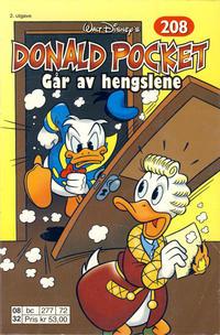 Cover Thumbnail for Donald Pocket (Hjemmet / Egmont, 1968 series) #208 - Donald går av hengslene [2. utgave bc 277 72]