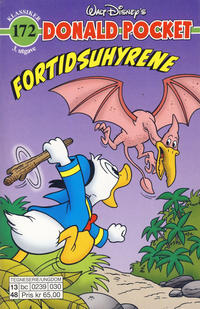Cover Thumbnail for Donald Pocket (Hjemmet / Egmont, 1968 series) #172 - Fortidsuhyrene [3. utgave bc 0239 030]