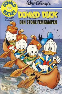 Cover Thumbnail for Donald Pocket (Hjemmet / Egmont, 1968 series) #66 - Donald Duck Den store femkampen [3. utgave bc 390 12]