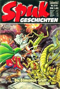 Cover Thumbnail for Spuk Geschichten (Bastei Verlag, 1978 series) #216