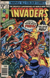 Cover Thumbnail for The Invaders (Marvel, 1975 series) #21 [British]