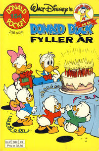 Cover Thumbnail for Donald Pocket (Hjemmet / Egmont, 1968 series) #154 - Donald Duck fyller år [1. opplag Reutsendelse 384 49]