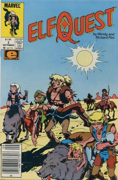 Cover for ElfQuest (Marvel, 1985 series) #2 [Newsstand]