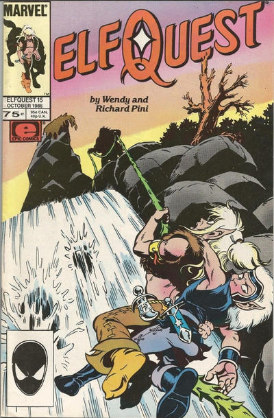 Cover for ElfQuest (Marvel, 1985 series) #15 [Newsstand]