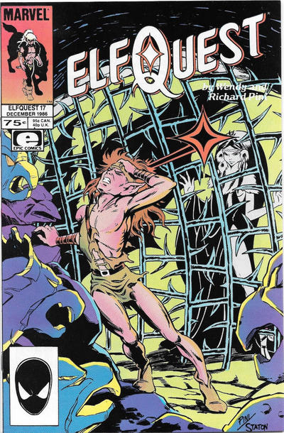 Cover for ElfQuest (Marvel, 1985 series) #17 [Newsstand]