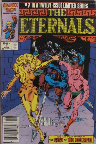 Cover for Eternals (Marvel, 1985 series) #7 [Direct]
