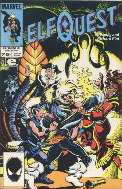 Cover for ElfQuest (Marvel, 1985 series) #20 [Newsstand]