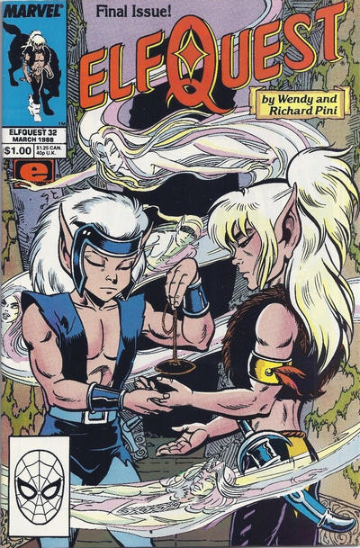 Cover for ElfQuest (Marvel, 1985 series) #32 [Direct Edition]