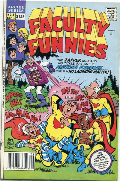 Cover for Faculty Funnies (Archie, 1989 series) #2 [Direct]
