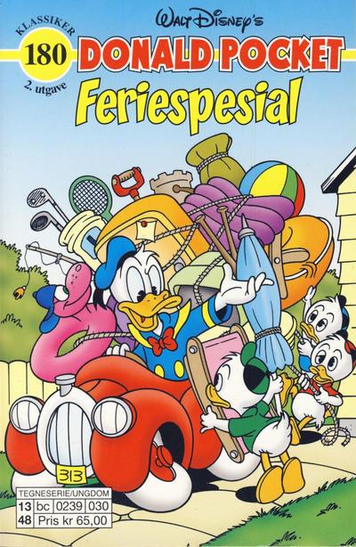 Cover for Donald Pocket (Hjemmet / Egmont, 1968 series) #180 - Donald Duck Feriespesial [1. opplag]