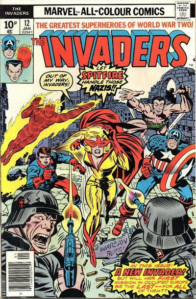 Cover for The Invaders (Marvel, 1975 series) #12 [British]