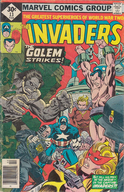 Cover for The Invaders (Marvel, 1975 series) #13 [Regular Edition]