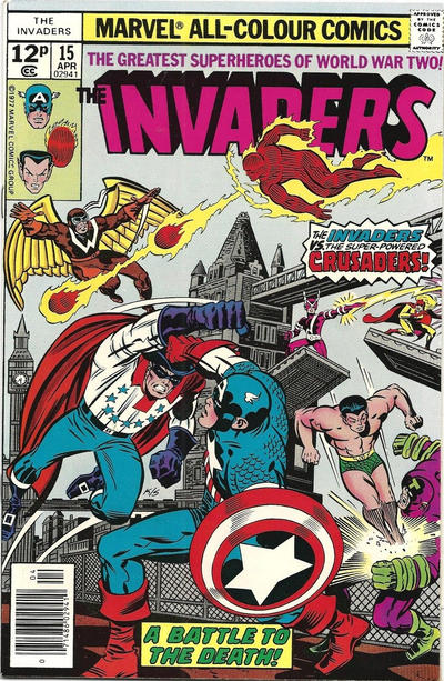 Cover for The Invaders (Marvel, 1975 series) #15 [Regular Edition]