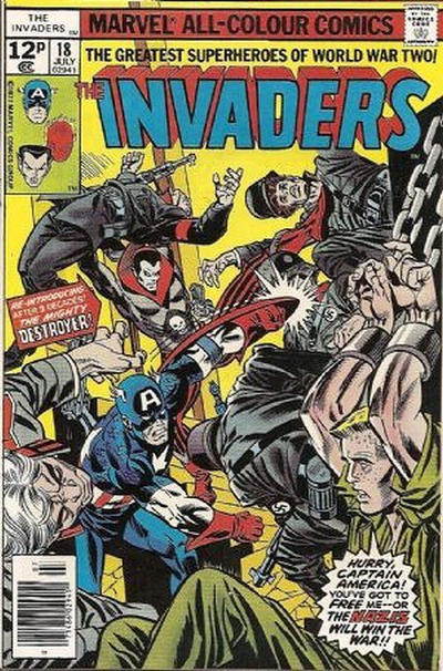 Cover for The Invaders (Marvel, 1975 series) #18 [30¢]