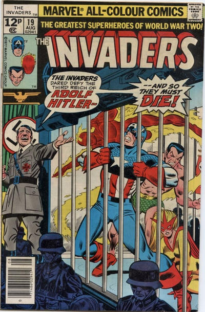 Cover for The Invaders (Marvel, 1975 series) #19 [British]