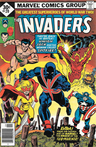Cover for The Invaders (Marvel, 1975 series) #20 [30¢]