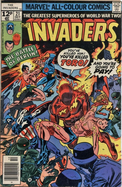Cover for The Invaders (Marvel, 1975 series) #21 [30¢]