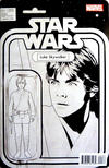Cover Thumbnail for Star Wars (2015 series) #1 [John Tyler Christopher Action Figure Black and White C2E2 Exclusive (Luke Skywalker)]