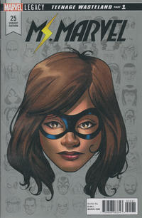 Cover Thumbnail for Ms. Marvel (Marvel, 2016 series) #25 [Mike McKone Legacy Headshot Cover]