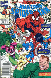 Cover Thumbnail for The Amazing Spider-Man (Marvel, 1963 series) #348 [Newsstand]