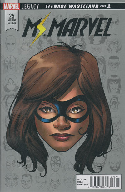 Cover for Ms. Marvel (Marvel, 2016 series) #25 [Mike McKone Legacy Headshot Cover]
