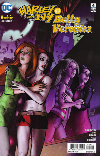 Cover for Harley & Ivy Meet Betty & Veronica (DC, 2017 series) #4 [Jenny Frison Cover]