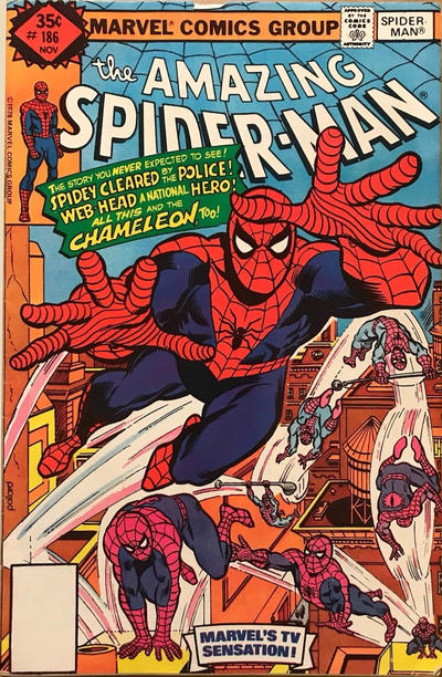 Cover for The Amazing Spider-Man (Marvel, 1963 series) #186 [Regular Edition]